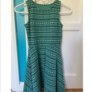 Aeropostale Teal Patterned Dress (XS)